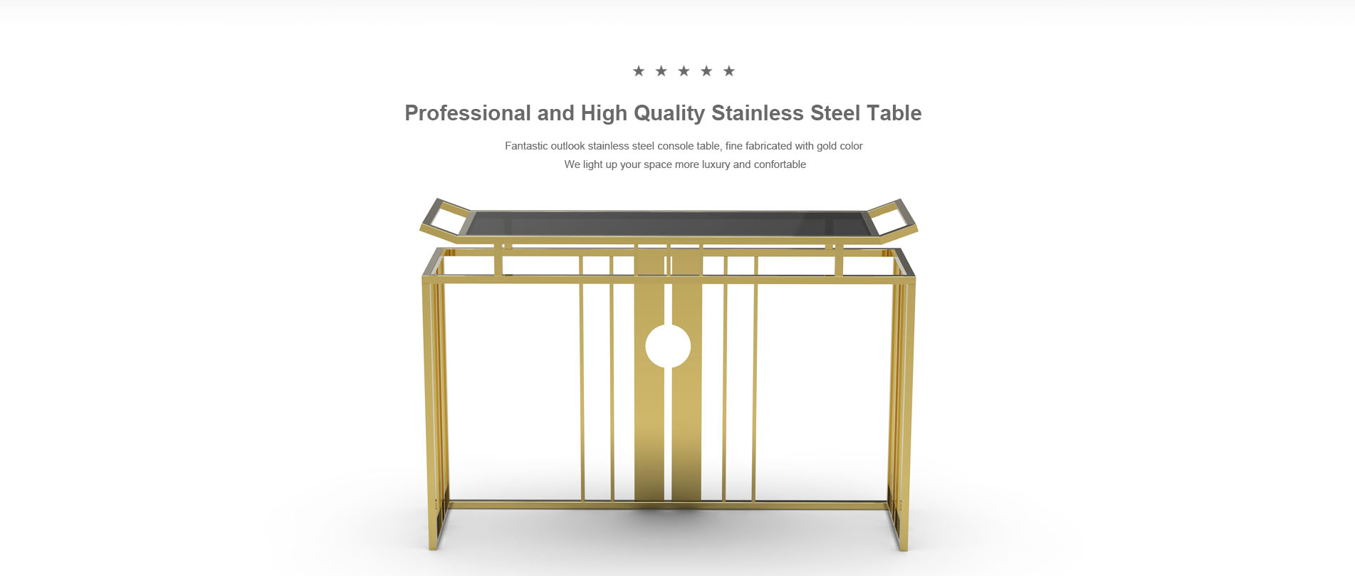 Goldeco home stainless steel furniture 1-2