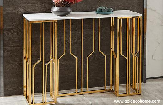 New Release Of Gold Stainless Steel Table