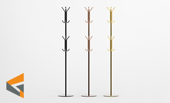 Stainless Steel Hat and Coat Stand